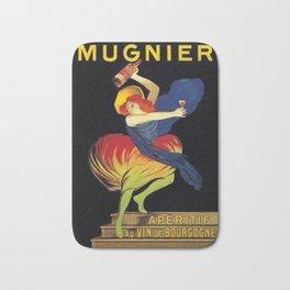 Mugnier Aperitif Advertisement Poster by Leonetto Cappiello Bath Mat