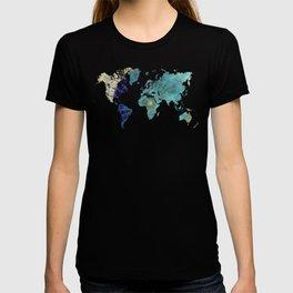 World Map Wind Rose T-shirt