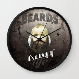 Beard boy Wall Clock