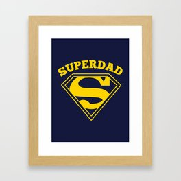 Superdad | Superhero Dad Gift Framed Art Print
