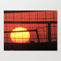 volleyball Canvas Prints featuring Volleyball by Sierra Christie