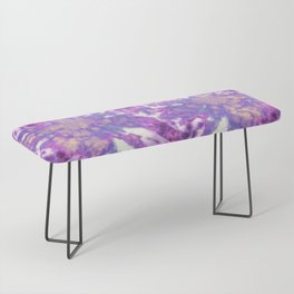 Tie-Dye Linen Bloom Bench