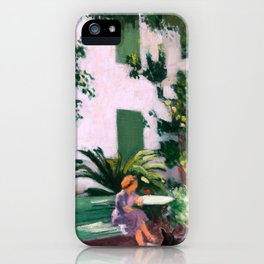 Albert Marquet - Le Repos devant la Maison - Rest in front of the House iPhone Case