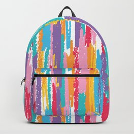 Colorful crayons brushstrokes pattern Backpack