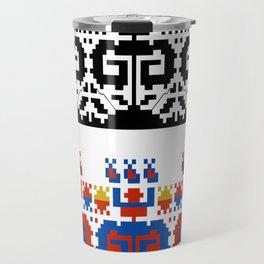 folk art fabric Travel Mug