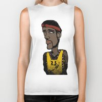 basketball Biker Tanks featuring Basketball  by JBLITTLEMONSTERS