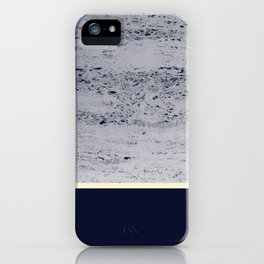 Navy Blue Pale Yellow on Navy Blue Concrete #1 #decor #art #society6 iPhone Case