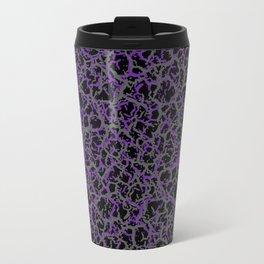 Purple, Black, and Grey Web Crackle Print Travel Mug