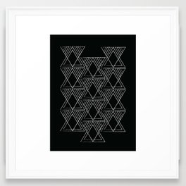 Tribal Triangle Pattern Framed Art Print