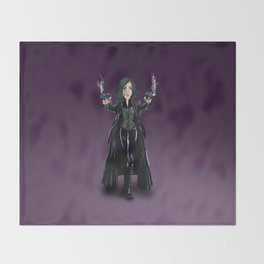 Selene, Vampire Death Dealer Throw Blanket