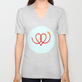 Heart and Arrow Just for You Unisex V-Neck