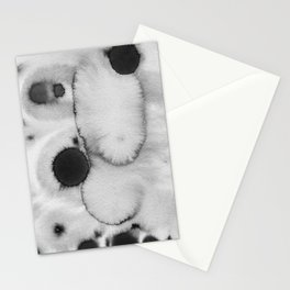 Black ink holes - in a watercolor based universe II Stationery Cards