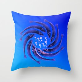 Fishes Dancing Throw Pillow