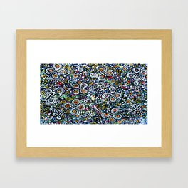 flowers-n-stars Framed Art Print