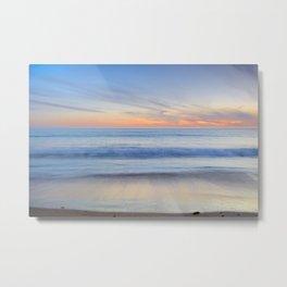 """Magical waves"" Tarifa beach at sunset Metal Print"
