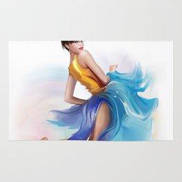 dancing ballerina2 Rug
