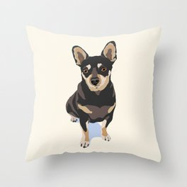 Mr. Mouse the Chihuahua Dog Throw Pillow