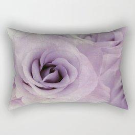wet purple rose Rectangular Pillow