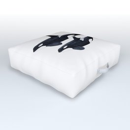Orca male and female Outdoor Floor Cushion