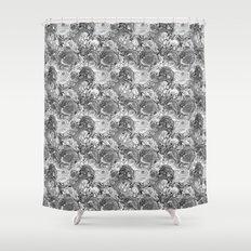 Malachite black and white Shower Curtain