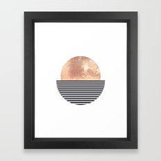 Rose Gold Sun - Scandinavian Art Framed Art Print