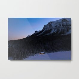 Dreamy Sunrise in Lake Louise Metal Print
