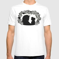 Beauty and the Beast  White MEDIUM Mens Fitted Tee