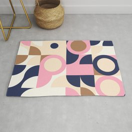 Abstract Geometric Composition 002 Rug