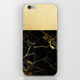 Gold and Black Marble iPhone Skin