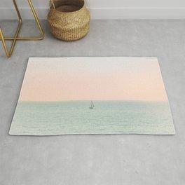 Sky Blush x Ocean Art Rug