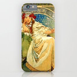 "Alphonse Mucha  ""Princess Hyacinth"" iPhone Case"