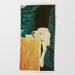 sleepy puppy Beach Towel