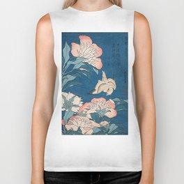 Katsushika Hokusai - Peonies and Canary, 1834 Biker Tank