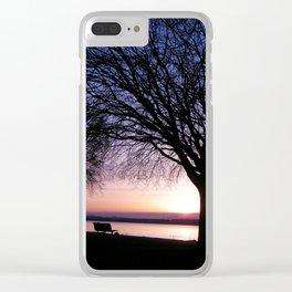 Purple Sunset Clear iPhone Case