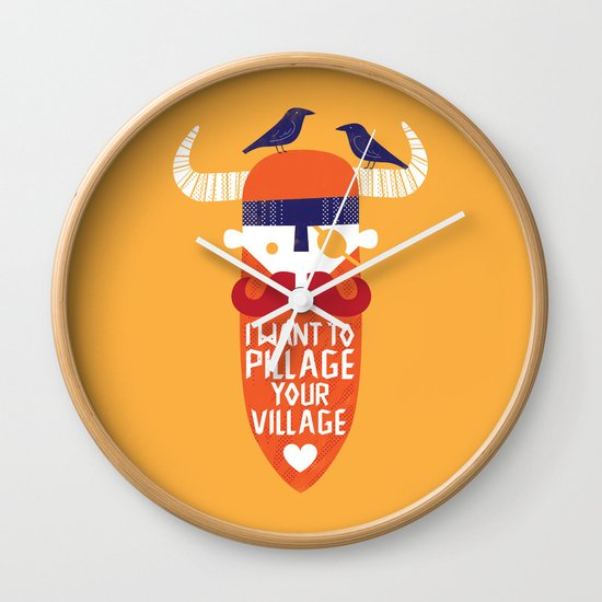 Pillage Wall Clock