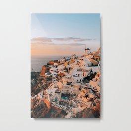 Set on You | Santorini, Greece Metal Print