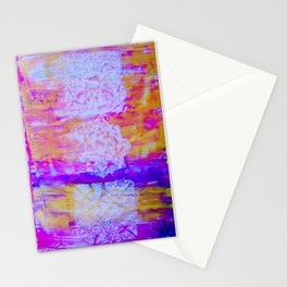 Sunset Through the Stain Glass Windows Stationery Cards