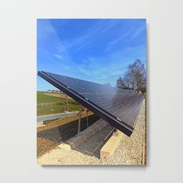 Solar panels in amazing perspective view | architectural photography Metal Print