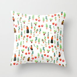 growing your own! Throw Pillow