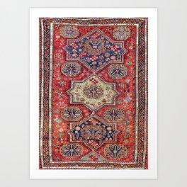 Kuba Sumakh East Caucasus Antique Rug Art Print