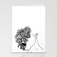 anxiety Stationery Cards featuring Anxiety by Jacquelyn Anthony