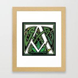 Celtic Frogs Letter A Framed Art Print