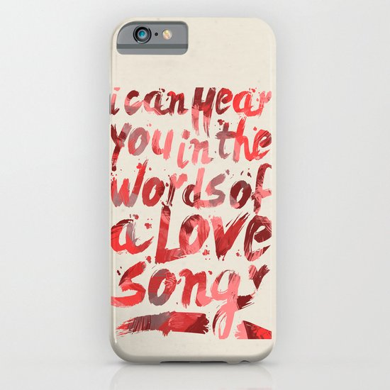 words of a love song iPhone & iPod Case