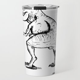 Unravelled T-Rex Dinosaur Travel Mug