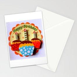 Happy Birthday Muffins Stationery Cards