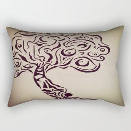 Ink Doodle Eyeball Tree Rectangular Pillow