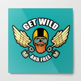 Get Wild And Free Metal Print