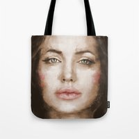 angelina jolie Tote Bags featuring Jolie by Dnzsea