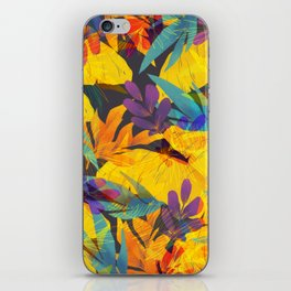 Colorful Tropical Abstract Decorative Flowers iPhone Skin