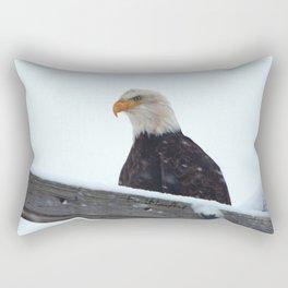 Winter Eagle Rectangular Pillow